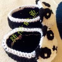 超详细教程教你钩0-3岁宝宝熊猫鞋