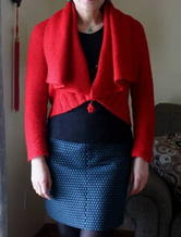 一衣多穿简洁大方知性棒针编织女士开衫