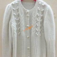 女童羊绒开衫 棒针编织儿童羊绒衫