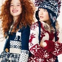 绚丽的儿童民族风毛衣款式