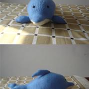 棒针编织海豚详细织法说明
