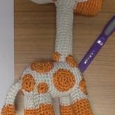 钩针玩偶长颈鹿的钩法教程