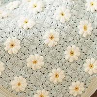 零基础学编织毯子 法兰西菊毯子编织教程