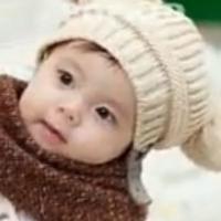 可爱的棒针编织宝宝毛线帽子
