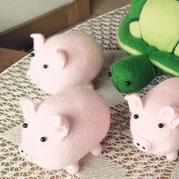 棒针编织玩偶之小猪文字教程