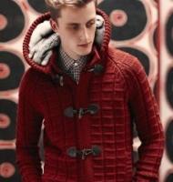 8款时尚棒针编织男士毛衣款式