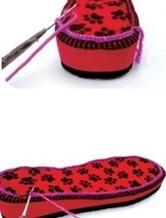 钩针编织拖鞋的方法和步骤(上)