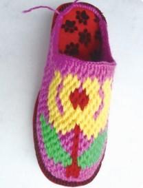 钩针编织拖鞋的方法和步骤(下)