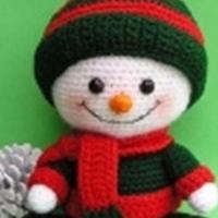 玩偶编织 可爱的钩针雪人图解教程