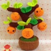 钩针编织萌萌哒金桔树