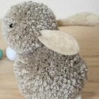 手工制作绒球玩偶小兔教程