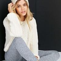 毛线裤的时尚宣言 快乐编织毛线裤