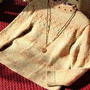 短款针织半高小领羊绒衫编织