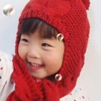 帽子编织视频之亲子护耳帽教程