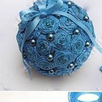 纸花球DIY小型纸球教程
