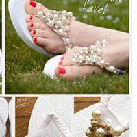 串珠编织拖鞋教程
