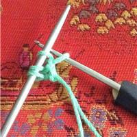 不卷边的双辫子钩针起针法 棒针起针技巧教程