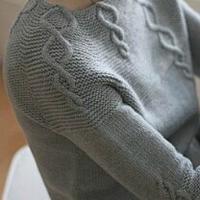 女士圆肩棒针毛衣款式