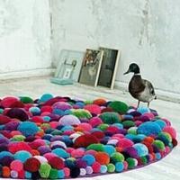 毛绒球的创意 绒线球编织创意作品展