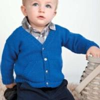 蓝带 棒针编织儿童开衫图解教程