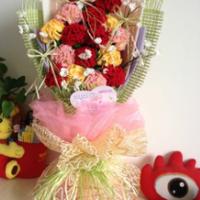 3.8女人节最美礼物自己做 手工编织康乃馨教程