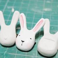 粘土制作兔子玩偶手工