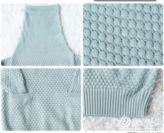 羊绒毛衣玉米花的编织教程