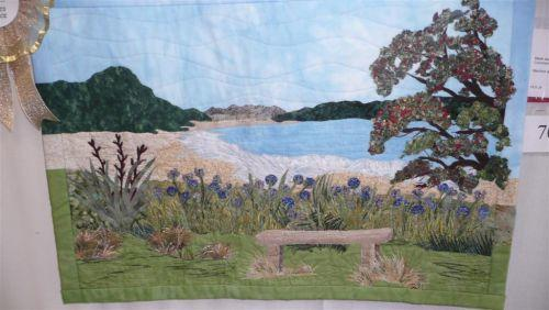 美丽的拼布风景壁画 基督城(新西兰)拼布展获奖作品