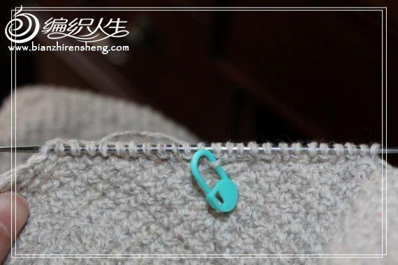[贝壳手工]线不够了的百搭款开衫(直接织袖子的详细说明)