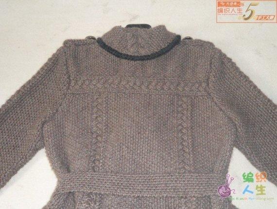 第五届编织大赛作品 西式双排扣大衣(图解真人秀)