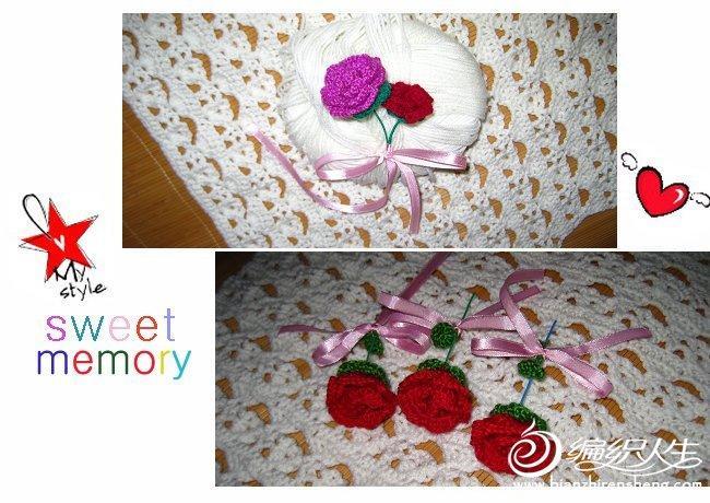 毛线编织玫瑰花方法 以及图解