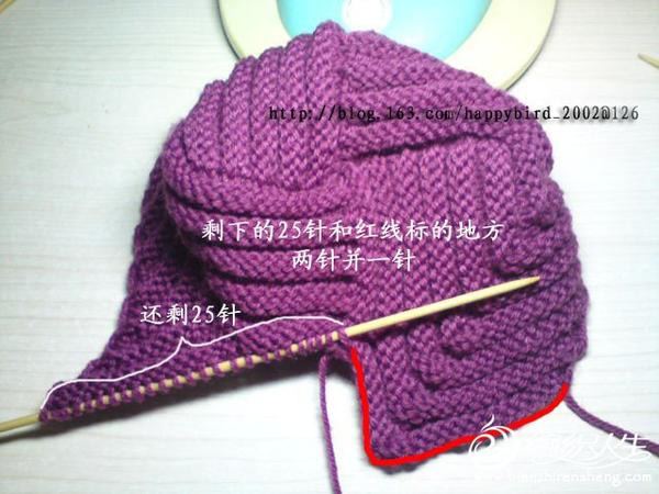 螺旋帽子编织视频 和编织过程图
