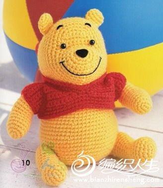 可爱的钩针玩偶熊 有图解
