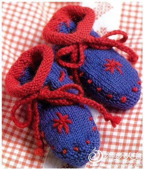 超多的毛线钩织宝宝鞋图片款式