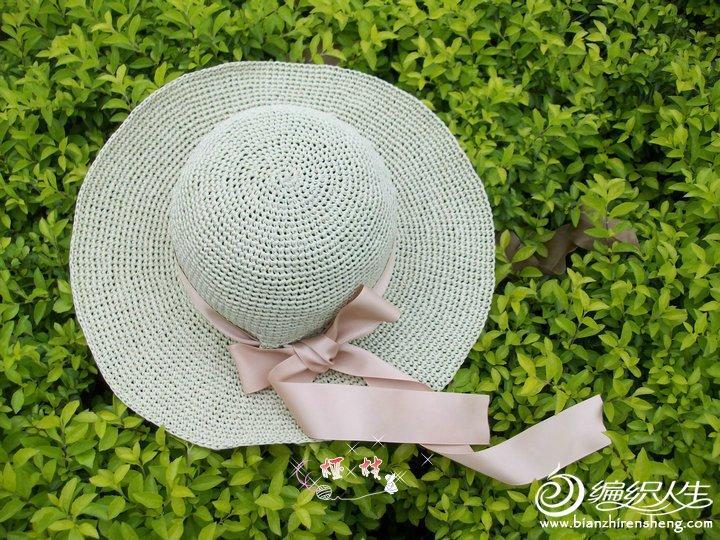 夏季毛线编织帽子 有视频教程及详细图解 薄荷清凉一夏