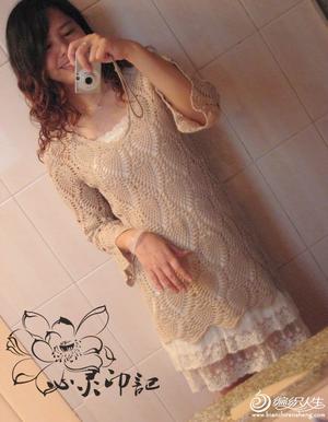 经典的毛线镂空菠萝裙子图解 超多美图真人秀