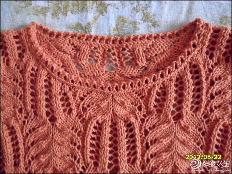 编织教程 经典女士镂空棕叶花毛衣 怎么织都好看