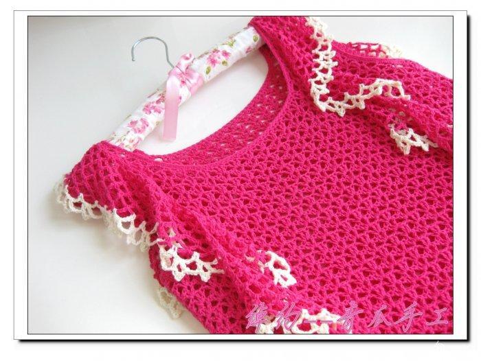 甜美镂空短袖毛衣绰约 青瓜手工-编织教程-编织人生