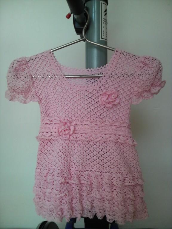 钩织可爱的粉色镂空公主裙(有图解)-编织教程-编织人生