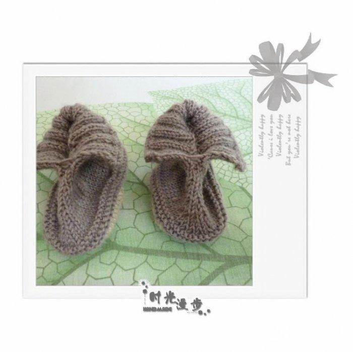 小幼缝_看我仿的小鞋子 毛线编织毛线鞋(婴儿鞋)过程图教程-编织教程 ...