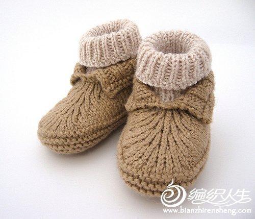 看我仿的小鞋子 毛线编织毛线鞋(婴儿鞋)过程图教程