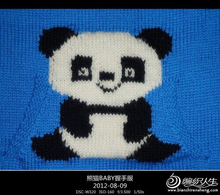 编织教程 适合3岁左右的宝宝熊猫图案儿童毛衣baby