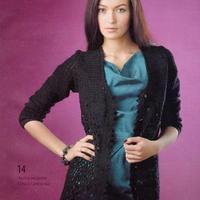 为秋天准备的长袖开衫 黑色镂空毛衣款式图解