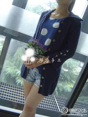 秋冬大衣款女士毛衣外套 休闲开衫有图解和编织说明