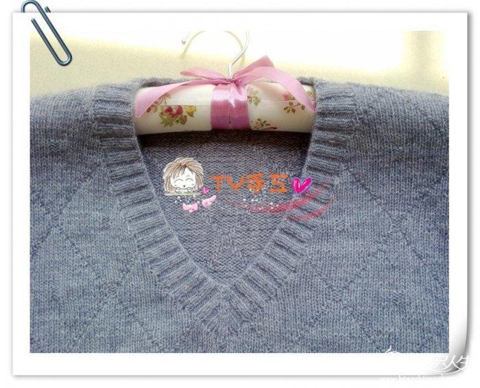 女士羊绒衫款式_爸爸的小V领羊绒衫 男士毛衣编织款式图解细节教程-编织教程 ...