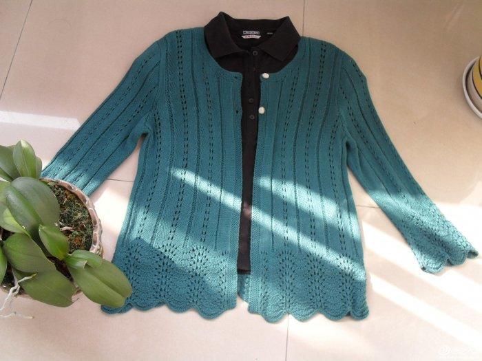 毛线编织女士长袖开衫外套款式