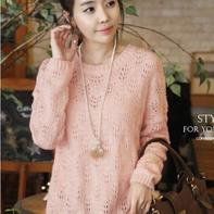 毛线编织长款女生毛衣款式依恋(长款亲子装你值得拥有)