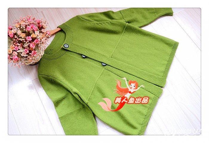 简约长袖开衫 棒针编织女士毛衣外套款式图解教程图片