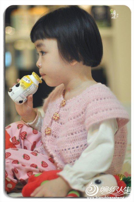 【糖娘】当马海遇上棉线---粉贝贝小坎肩