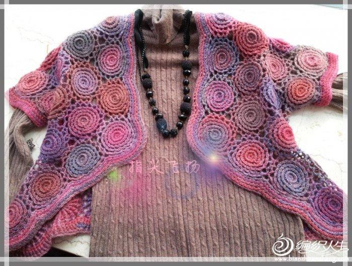 初学者织围巾的步骤图